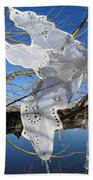 Winter Fairy Wings Beach Towel