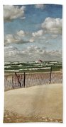 Winter Fences In Grand Haven 2.0 Beach Towel