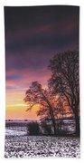 Winter Fields Beach Towel