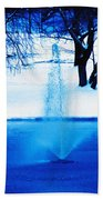 Winter Fountain 2 Beach Towel