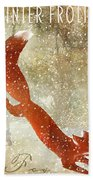 Winter Game Fox Beach Towel