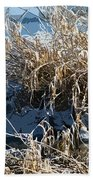Winter Grass Beach Towel
