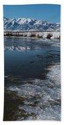 Winter Ice Flows Beach Towel