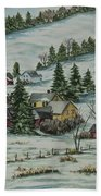 Winter In East Chatham Vermont Beach Towel