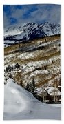 Winter In East Vail Beach Towel