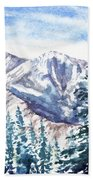 Winter In The Mountains  Beach Towel
