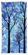Winter In The Woods Abstract Beach Towel