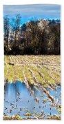 Winter In Washington Fields Beach Towel