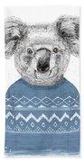 Winter Koala Beach Towel