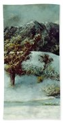 Winter Landscape With The Dents Du Midi Beach Towel by Gustave Courbet