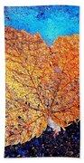 Winter Leaf Beach Towel