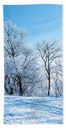 Winter Lights Beach Towel
