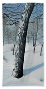 Winter Maple Beach Towel
