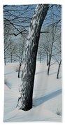 Winter Maple Beach Towel