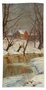 Winter Morning Beach Towel