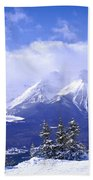 Winter Mountains Beach Towel