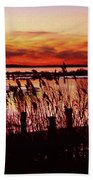 Winter On The Bay Beach Towel