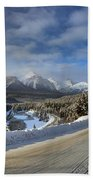 Morant's Curve On The Bow Valley Parkway Beach Towel