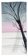Winter On The Lake Beach Towel