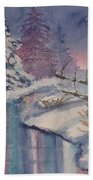 Winter Reflections Beach Towel