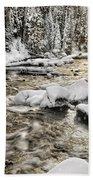 Winter River Beach Towel