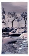 Winter Scene Beach Towel