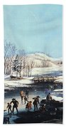 Winter Scene: Morning 1854 Beach Towel