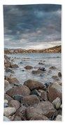 Winter Sea In Porto Frailis Beach Towel