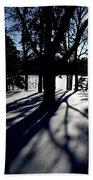 Winter Shadows 2 Beach Towel