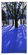 Winter Shadows Beach Towel