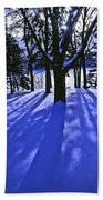 Winter Shadows Beach Towel