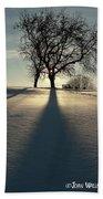 Winter Silhouette Beach Sheet