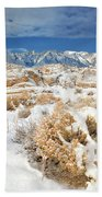 Winter Snowstorm Blankets The Alabama Hills California Beach Towel