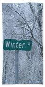 Winter Street Beach Towel