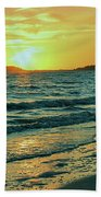 Winter Sunset At Wellfleet Harbor Beach Towel