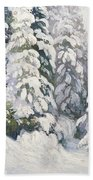 Winter Tale Beach Towel by Aleksandr Alekseevich Borisov