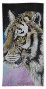 Winter Tiger Beach Towel