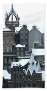 Winter Townscape Scotland Beach Towel