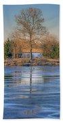 Winter Tree - Walnut Creek Lake Beach Towel