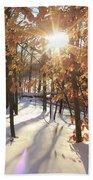 Winter Trees #1 Beach Towel