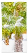 Winter Trees 1 Beach Towel