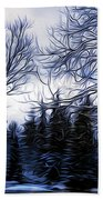 Winter Trees In Sweden Beach Towel