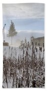 Winter Village Beach Towel