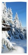 winter way in the Upper Harz Beach Towel