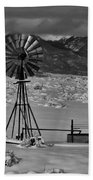 Winter Windmill Beach Towel