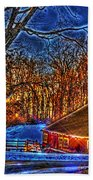 Winter Wonderland Hdr  Beach Towel
