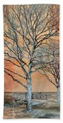 Winter's Dawn Beach Towel