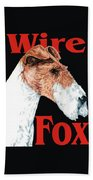 Wire Fox Terrier Beach Towel