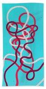 Wires Beach Towel by Daniel Hannih