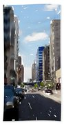 Wisconsin Ave 2 Beach Towel